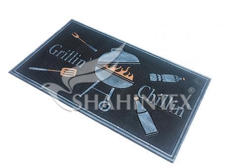 Коврик придверный резиновый с покрытием SHAHINTEX