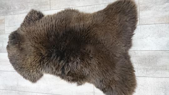 Шкура Овцы Мериноса Коричневая (медведь)
